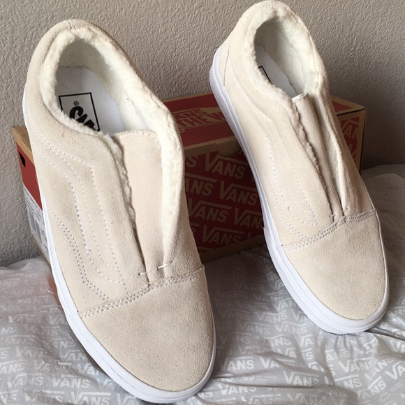 019689c3f4b Vans Old Skool Laceless HG Suede Fleece True White